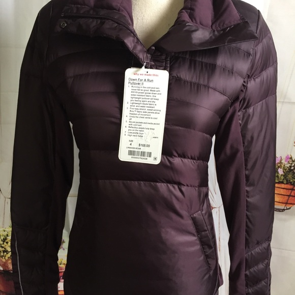 Nwt Bchr Lululemon Down For A Run Pullover     4 6Nwt by Lululemon Athletica
